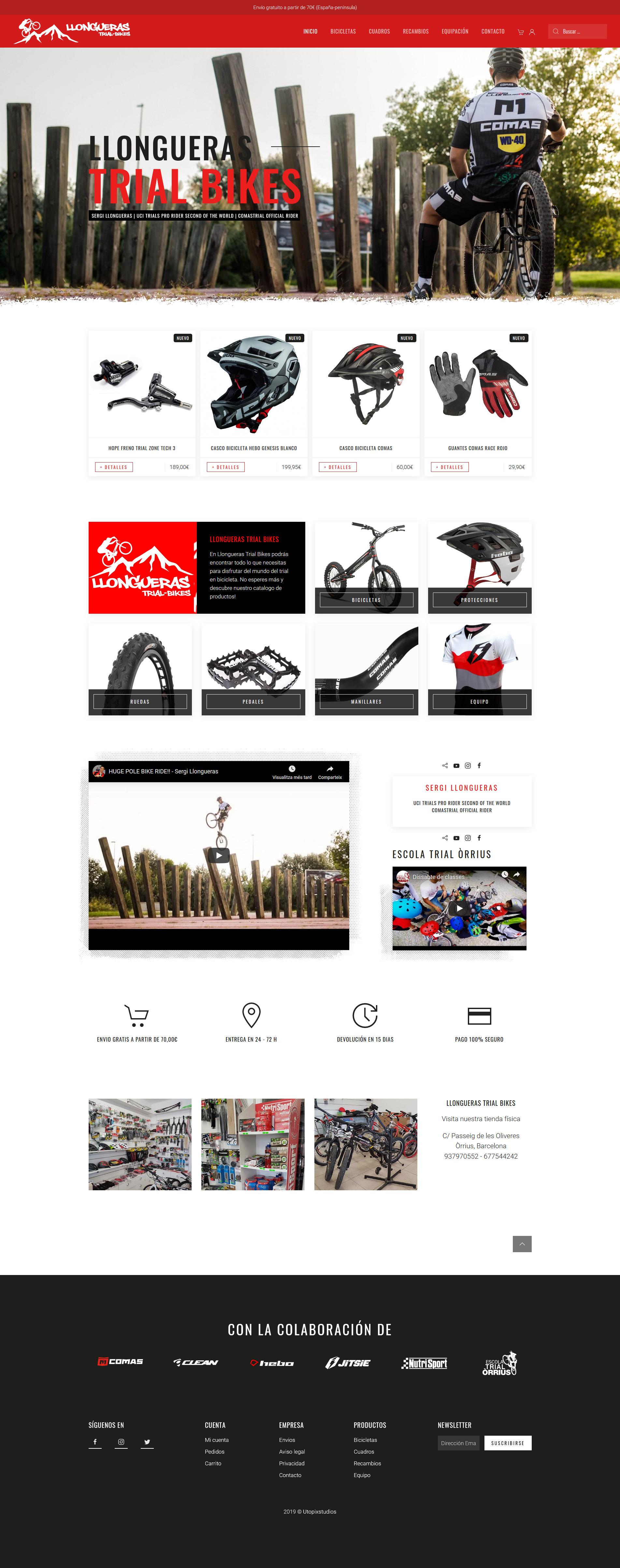 captura de pantalla de Llongueras Trial Bikes